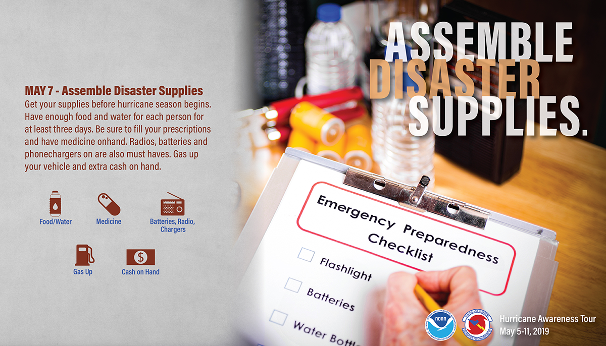 May 7: Assemble Emergency Supplies