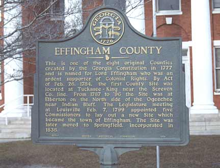 Effingham County marker